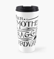 Your Mother is a Fraggin' Aardvark Vintage Look Graphic Travel Mug