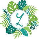 Monogramm-Buchstabe Z | Personalisiert | Tropisches Design von PraiseQuotes