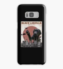 Black Labzilla - Giant Labrador Retriever Monster Samsung Galaxy Case/Skin