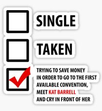 Single, Taken... Wynonna Earp Edition #2 Sticker