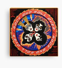 Kiss Rock and Roll Over Canvas Print