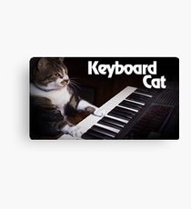 Piano Playing Cat Canvas Print