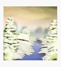 Riverside Winter  Photographic Print