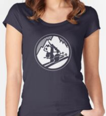 Pando Commando Shirt - Graphic Army Logo Women's Fitted Scoop T-Shirt