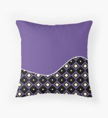 Pantone Colour of the Year 2018 ULTRA VIOLET Wave Throw Pillow