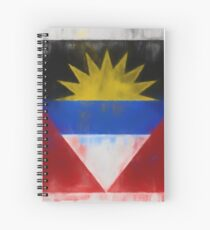 Antigua And Barbuda Flag Reworked No. 66, Series 1 Spiralblock