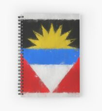 Antigua And Barbuda Flag Reworked No. 66, Series 3 Spiralblock