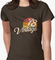 Jahrgang 1978 Tailliertes T-Shirt für Frauen