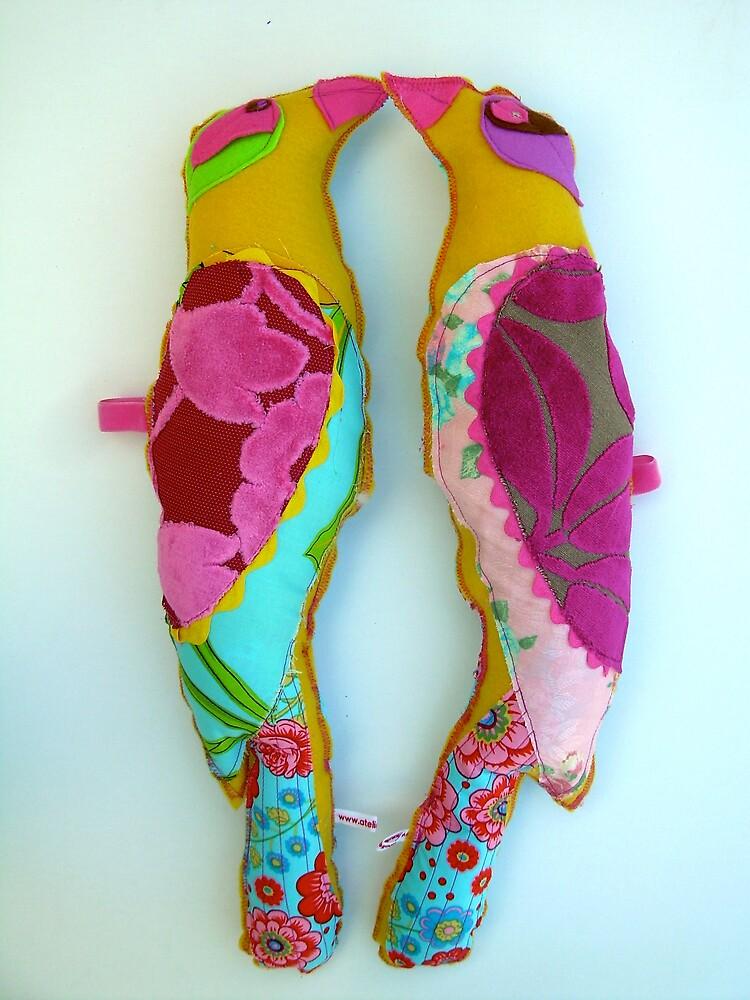 Fabric birds by atelierxt