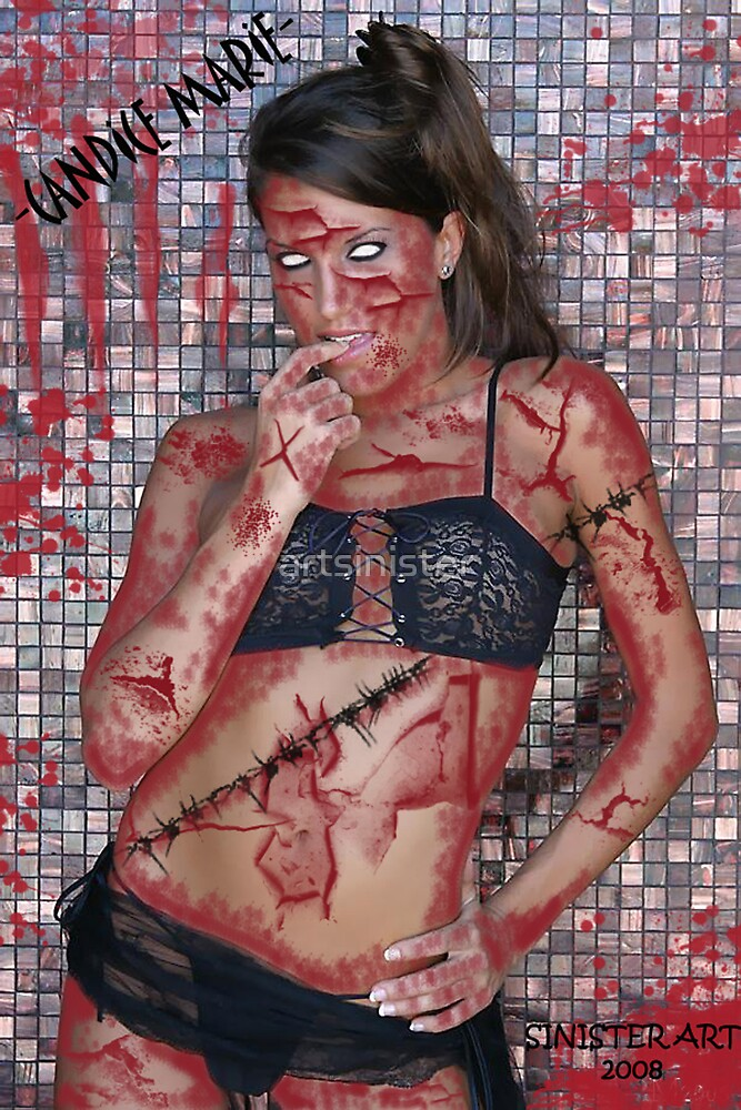 """MODEL CANDICE MARIE-""""ZOMBIE"""" by artsinister"""
