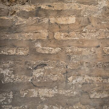 Old brick wall with cracks and scratches. Brick wall background. Distressed wall with broken bricks texture. House facade. by AnaMOMarques