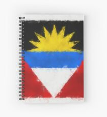 Antigua And Barbuda Flag Reworked No. 66, Series 5 Spiralblock
