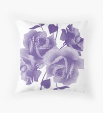 Pantone Colour of the Year 2018 ULTRA VIOLET  Pixel Roses Throw Pillow