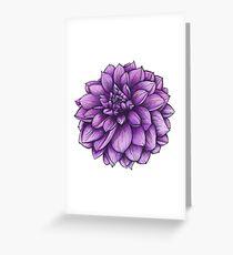 Thomas Edison Dahlia Botanical Illustration Greeting Card