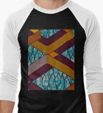 African Print Fabric Men's Baseball ¾ T-Shirt