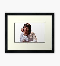 mrs mia wallace - uma thurman, pulp fiction Framed Print