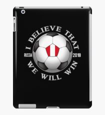 Peru Soccer Team We Will Win 2018 Cup Futbol In Russia Tshirt iPad Case/Skin