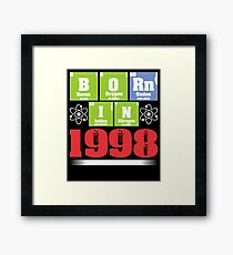 Science Birthday Shirts for Ages 19 Framed Print