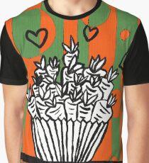 Happy Carrot Cupcake Graphic T-Shirt