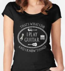I Play Guitar - Funny Parody Gift for Guitarist T Shirt Women's Fitted Scoop T-Shirt