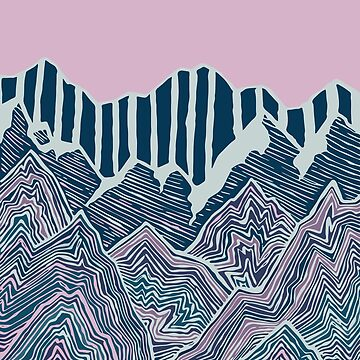 Abstract Snow-Capped Geode Mountains by drawintowonder