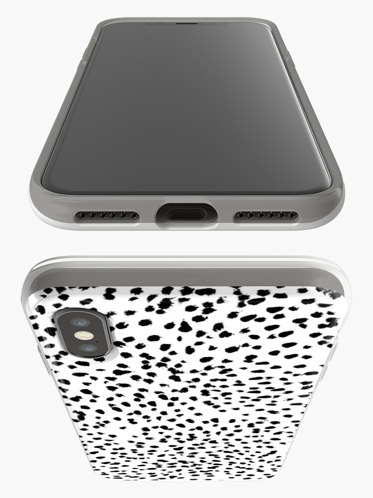 Alternate view of Nadia - Black and White, Animal Print, Dalmatian Spot, Spots, Dots, BW iPhone Case & Cover