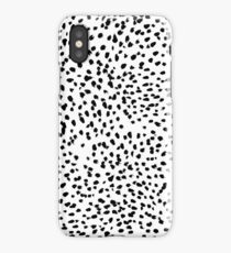 Nadia - Black and White, Animal Print, Dalmatian Spot, Spots, Dots, BW iPhone Case/Skin