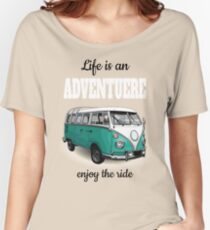Vintage posters, retro a minibus for travel  Women's Relaxed Fit T-Shirt