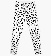 Nadia - Black and White, Animal Print, Dalmatian Spot, Spots, Dots, BW Leggings