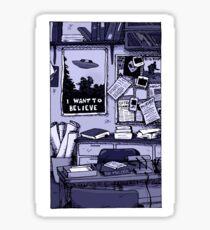 Mulder's Office - Blue Sticker