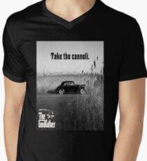 The Godfather Take the Cannoli Men's V-Neck T-Shirt