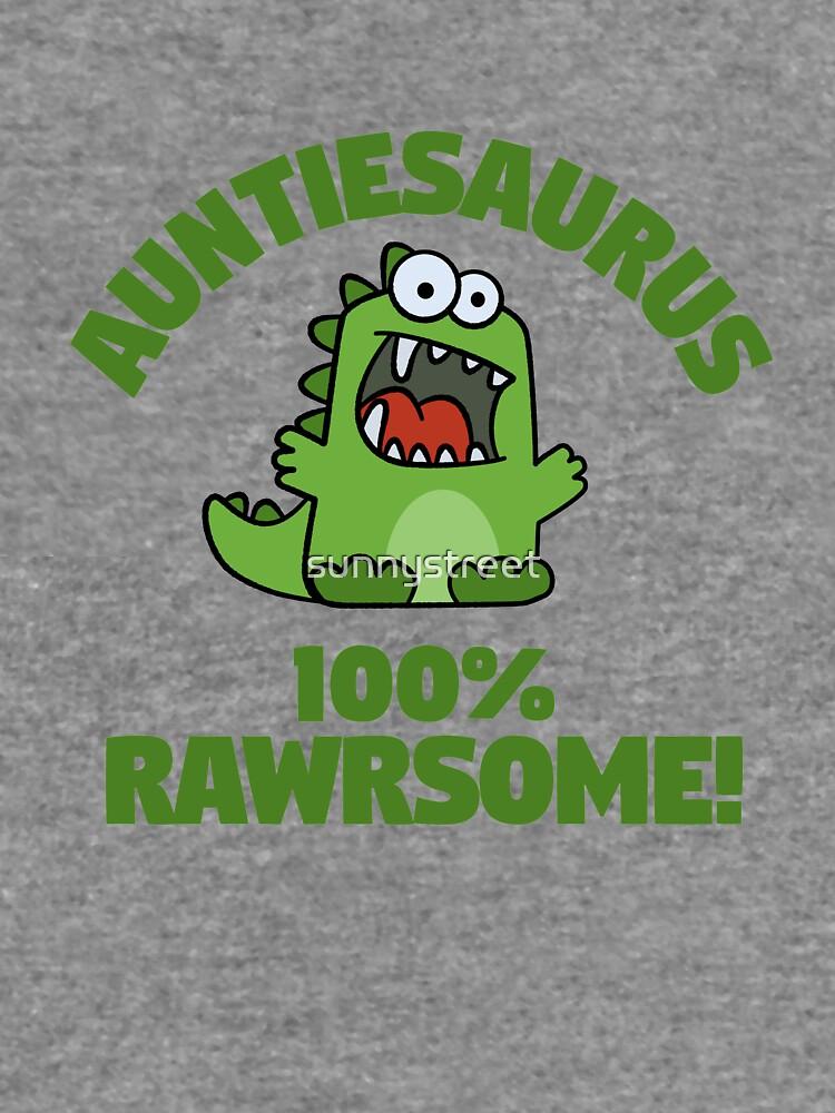 Auntiesaurus Wortspiel Lustige niedliche Dinosaurier-Karikatur von SunnyStreet