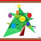 Abstract Christmas Tree Card by Jana Gilmore