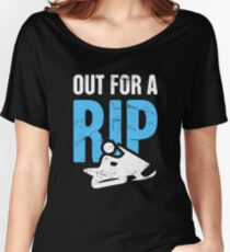 Out For A Rip - Funny Snowmobile Design Women's Relaxed Fit T-Shirt