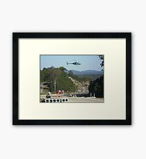 Helicopter sling work Framed Print