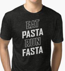 Eat Pasta Run Fasta Tri-blend T-Shirt