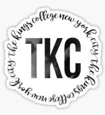TKC - The King's College New York City Black Ink Circle Sticker