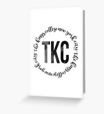 TKC - The King's College New York City Black Ink Circle Greeting Card