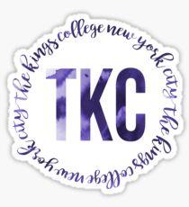 TKC - The King's College New York City Ink Circle Sticker