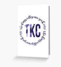 TKC - The King's College New York City Ink Circle Greeting Card