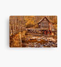 Golden Glade Creek Grist Mill Canvas Print