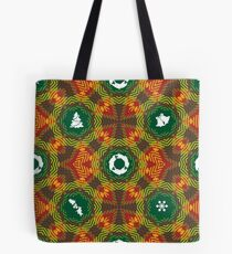 De constructed Twill Christmas Tote Bag