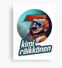 Kimi Raikkonen 7 - 2015 Canvas Print
