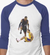 Allen Iverson Steps Over Tyronn Lue Low Poly Men's Baseball ¾ T-Shirt