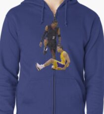 Allen Iverson Steps Over Tyronn Lue Low Poly Zipped Hoodie