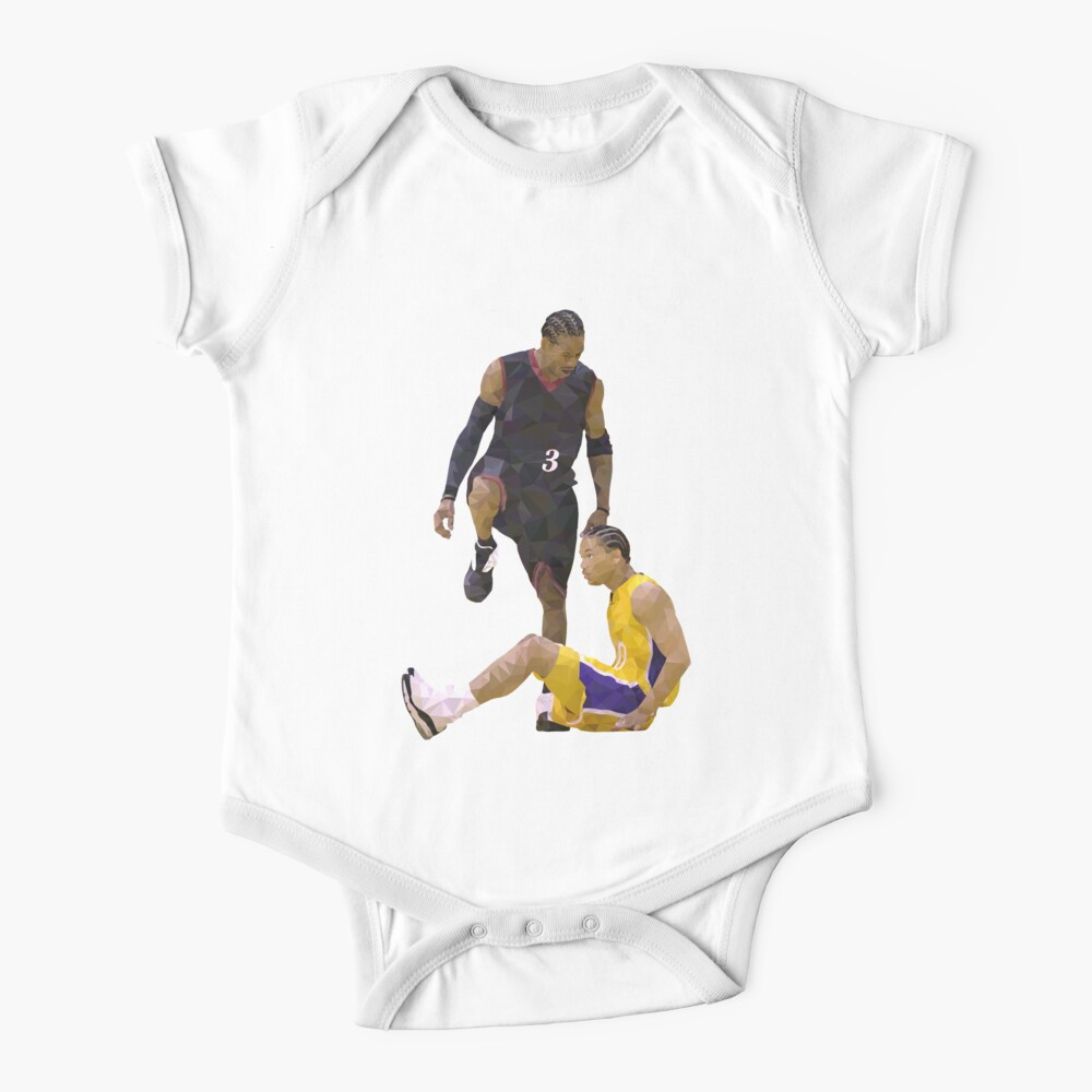 Allen Iverson Steps Over Tyronn Lue Low Poly Baby One-Piece