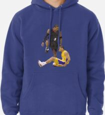 Allen Iverson Steps Over Tyronn Lue Low Poly Pullover Hoodie