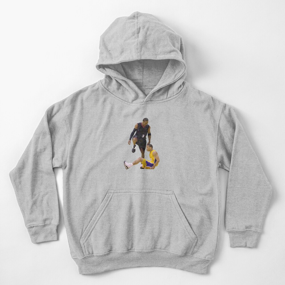 Allen Iverson Steps Over Tyronn Lue Low Poly Kids Pullover Hoodie