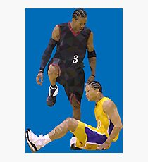 Allen Iverson Steps Over Tyronn Lue Low Poly Photographic Print