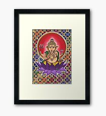The Cosmic Geometric Ganesh Framed Print